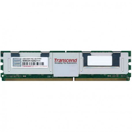 RAM Serveur DDR2-667 Transcend PC2-5300F 2GB Fully Buffered ECC TS256MFB72V6U-T