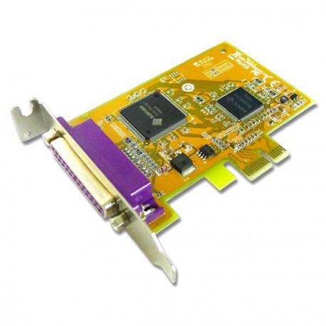 Lot x10 Cartes SUNIX Port Parallele IEEE1284 PCI-E Low Profile PAR5408AL 0G1FN2