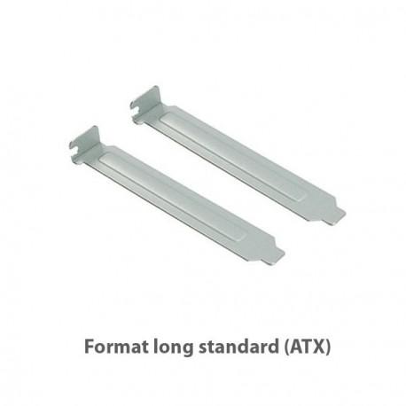 Lot 2x Caches PCI Cover Longs Standards Métalliques Boîtier PC Case - Sans Vis