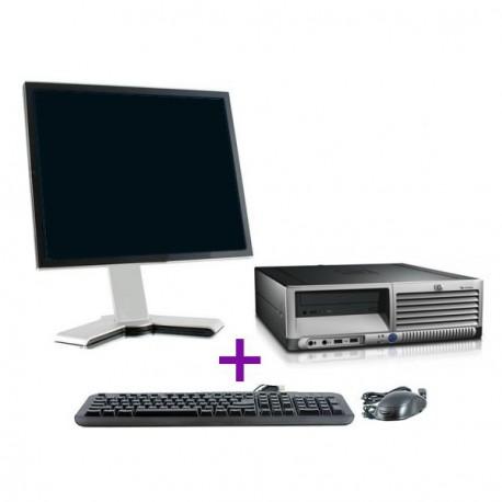"Lot PC HP DC7600 SFF Intel Pentium 4 2.8Ghz 2Go DDR2 500Go XP Pro + Ecran 17"""