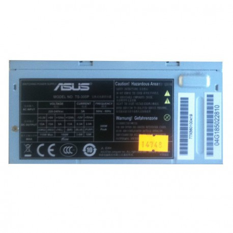 Alimentation Asus TS-300P Desktop Power Supply 300W ATX, Boitier 16 X 9 X 8cm