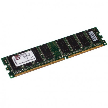 Ram Barrette Mémoire KINGSTON 1Go DDR SDRAM PC-2700 333MHz KFJ2813/1G Unbuffered