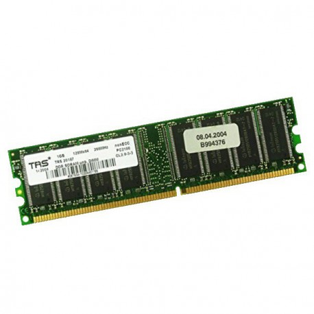 Ram Barrette Mémoire TRS* TRS20187 1Go DDR SDRAM PC-2100 266MHz Unbuffered