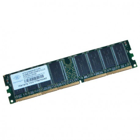 Ram Barrette Mémoire NANYA 512MB DDR PC-2700 333MHz NT512D64S8HB1G-6K Unbuffered