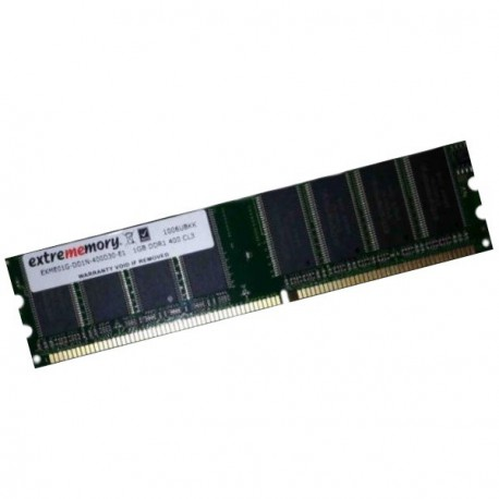 Ram Barrette Mémoire EXTREMEMORY EXME01G-DD1N-400D30 1Go DDR PC-3200 Unbuffered