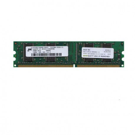 Ram Barrette Mémoire MICRON 128MB DDR PC-2700U MT4VDDT1664AG-335C3 CL3 PC