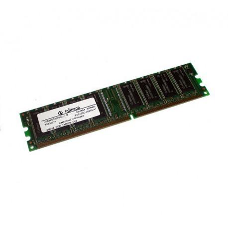 Ram Barrette Mémoire Infineon 256MB DDR PC-2700U 333MHz HYS64D32300GU-6-B