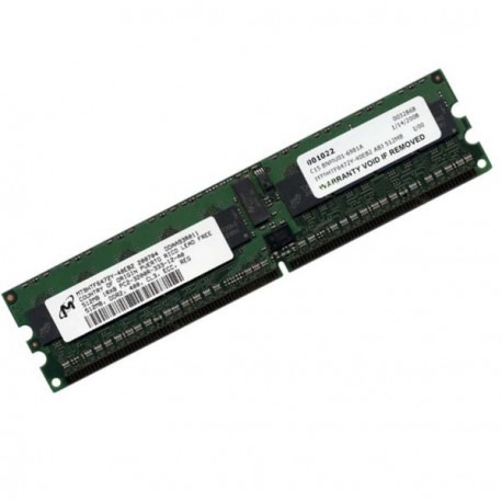 Ram Serveur MICRON 512Mo DDR2 PC-3200R Registered ECC 400Mhz MT18HTF6472DY-40EB2