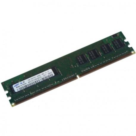 Ram Barrette Memoire SAMSUNG 1Go DDR2 PC2-6400U 800Mhz 1Rx8 CL6 M378T2863RZS-CF7