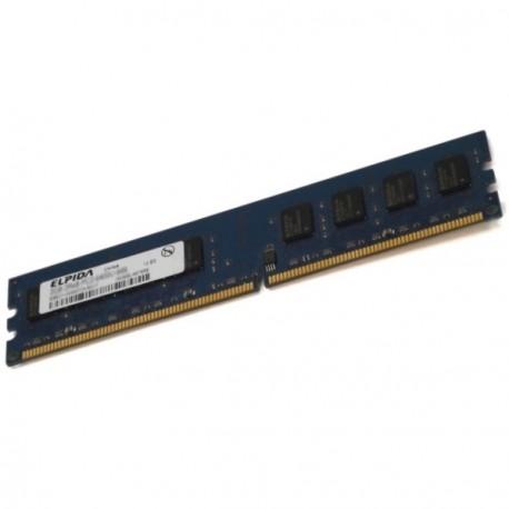 Ram Barrette Memoire ELPIDA 2Go DDR2 PC2-6400U 800Mhz 2Rx8 CL6 EBE21UE8AFFA-8G-F