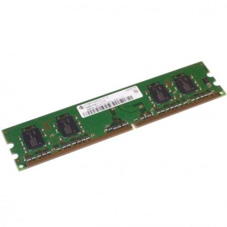 Ram Barrette Memoire INFINEON 256Mo DDR2 PC2-3200U 400Mhz CL3 HYS64T32000HU-5-A