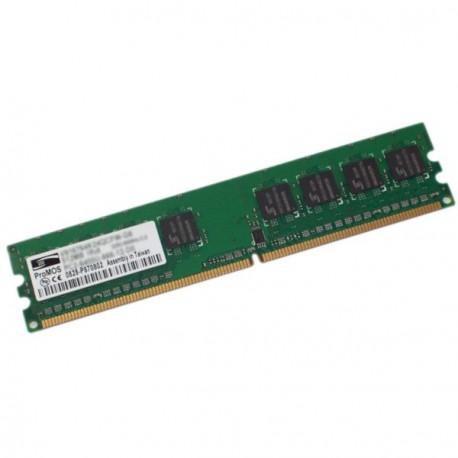 Ram Barrette Memoire ProMOS 1Go DDR2 PC2-5300U 667Mhz 2Rx8 CL5 V916765K24QCFW-F5