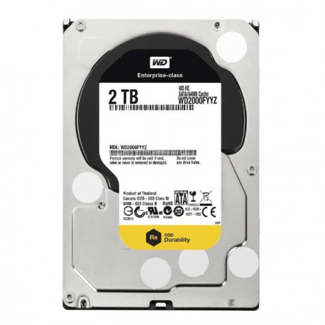"Disque Dur 2000Go 2To 3.5"" SATA Western Digital RE WD2000FYYZ 64Mo 7200 Rpm"