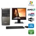 "Lot PC ACER M420 Tour Athlon X2 4850B 2.5Ghz 2Go 160Go WIFI Vista + Ecran 19"""