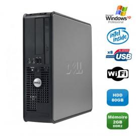 PC DELL Optiplex 760 SFF Pentium Dual Core E2200 2.2Ghz 2Go 80Go WIFI XP Pro