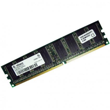 Ram Barrette Memoire INFINEON 512Mo DDR1 PC-3200U 400Mhz HYS64D64300HU-5-C CL3