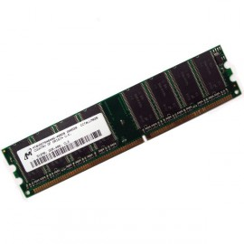 512Mo Ram MICRON MT8VDDT6464AG-40BDB 184-PIN DDR PC-3200U 400Mhz 1Rx8 CL3