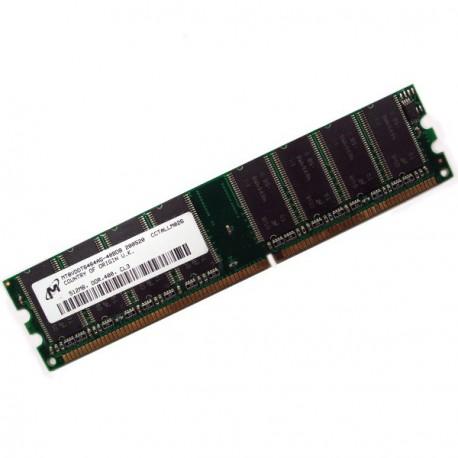 Ram Barrette Memoire MICRON 512Mo DDR1 PC-3200U 400Mhz MT8VDDT6464AG-40BDB CL3