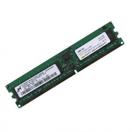 Ram Serveur MICRON 1Go DDR1 PC-2700R Registered ECC 333Mhz MT18VDDF12872Y-335D3