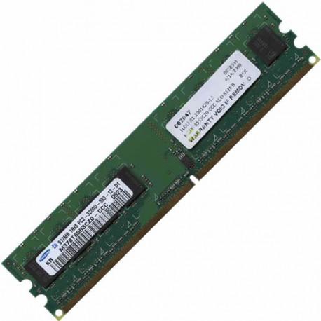 Ram Mémoire SAMSUNG 512Mo DDR2 PC2-3200 Non ECC 400Mhz M378T6553CZ0-CCC 240 pin