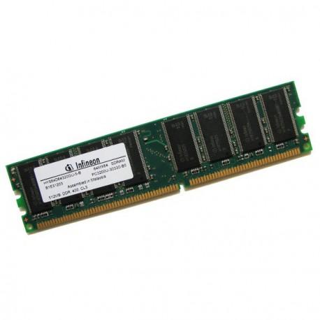 Ram Barrette Memoire INFINEON 512Mo DDR1 PC-3200U 400Mhz HYS64D64320GU-5-B CL3