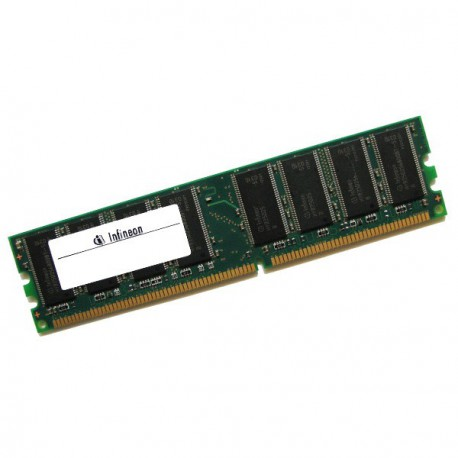 Ram Barrette Memoire INFINEON 512Mo DDR1 PC-2700U 333Mhz HYS64D64320GU-6-C CL2.5