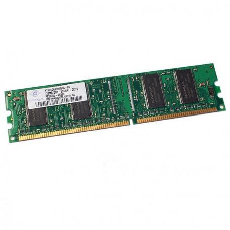 Ram Barrette Memoire NANYA 128Mo DDR1 PC-2700U 333Mhz NT128D64SH4B1G-6K CL2.5