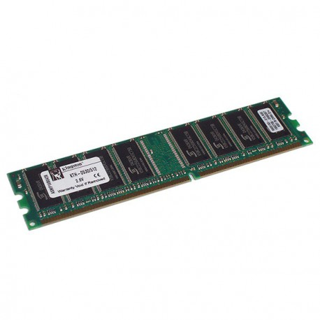 Ram Barrette Memoire KINGSTON 512Mo DDR1 PC-2700U 333Mhz KTH-D530/512