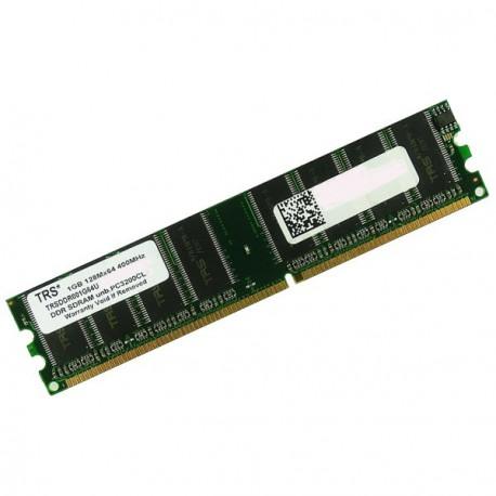 Ram Barrette Memoire TRS* 1Go DDR1 PC-3200U 400Mhz TRSDDR001G64U-PC400CL25