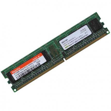 Ram Barrette Memoire HYNIX 512Mo DDR2 PC2-3200U 400Mhz HYMP564U648-E3 2Rx8 CL3