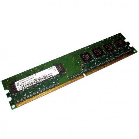 Ram Barrette Memoire INFINEON 512Mo DDR2 PC2-3200U 400Mhz HYS64T64000HU-5-A
