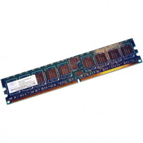 Ram Serveur NANYA 1Go DDR2 PC2-3200R Registered ECC 400Mhz NT1GT72U4PA0BV-5A CL3