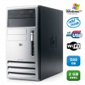 PC HP DC5100 MT Intel Pentium 4 3.20Ghz 2Go DDR2 500Go SATA WIFI Win XP Pro
