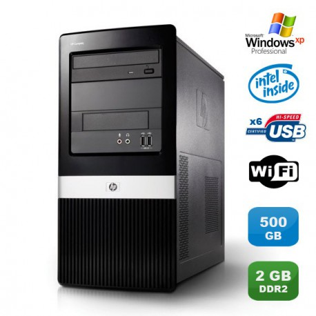 PC HP COMPAQ DX2400 Core 2 Duo E7200 2.53Ghz 2Go DDR2 500Go WIFI Win XP PRO