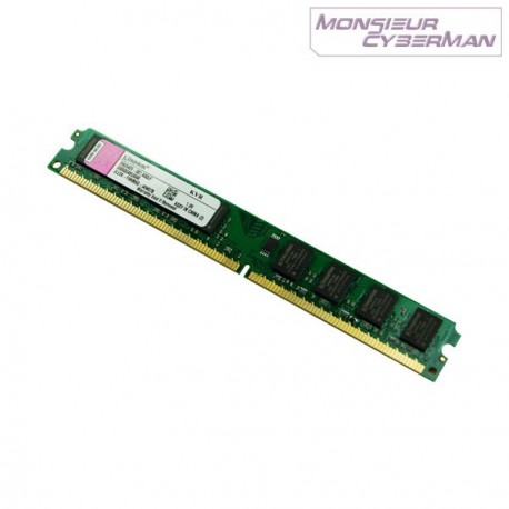 Ram Barrette Mémoire Kingston KTD-DM8400/512 512Mo DDR2 PC2-3200 CL3 Low Profile