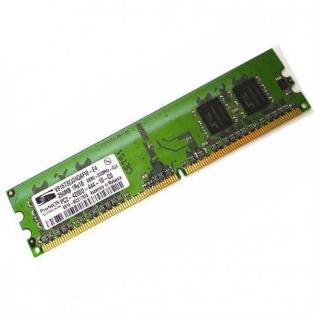 Ram Barrette Memoire PROMOS V916732J24QAFW-E4 256Mo DDR2 PC-4200U 533Mhz CL4