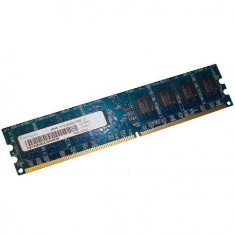 Ram Barrette Mémoire RAMAXEL RML1060MD46D5F-667 256Mo DDR2 PC2-5300U Unbuffered