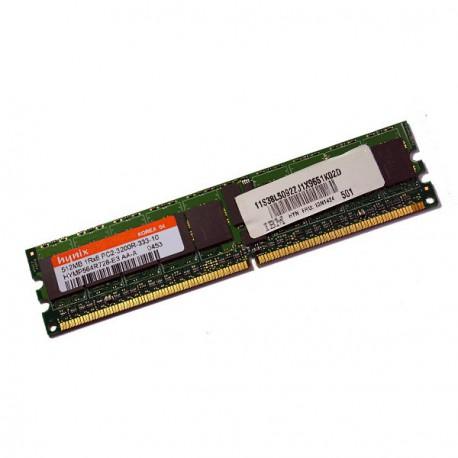 RAM Serveur HYNIX 512Mo DDR2 PC2-3200R Registered ECC 400Mhz HYMP564R728-E3 CL3