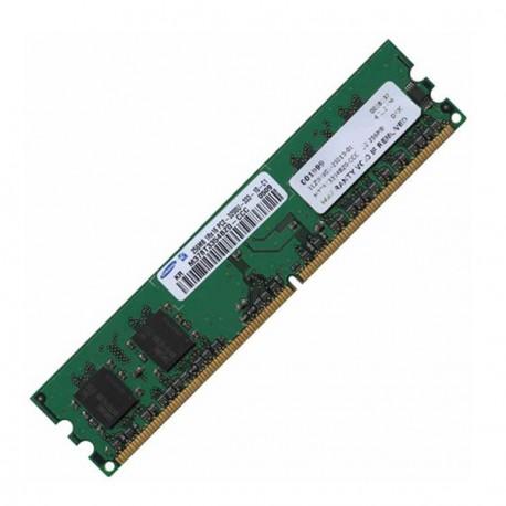 Ram Barrette Mémoire SAMSUNG 256Mo DDR2 PC2-3200U 400Mhz M378T3354BZ0-CCC CL3