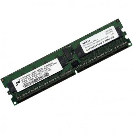 Ram Serveur MICRON MT18HTF6472Y-40EB2 512Mo DDR2 PC-3200R Registered ECC 400Mhz