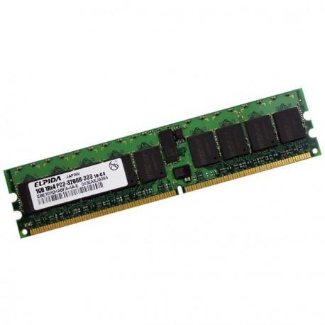 RAM Serveur ELPIDA 1Go DDR2 PC2-3200R Registered ECC 400Mhz EBE10RD4ABFA-4A-E