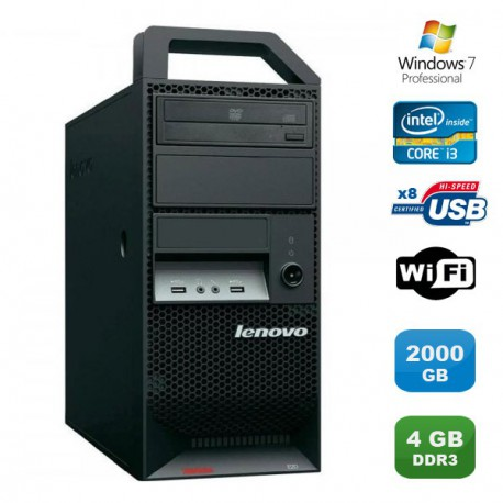 PC Lenovo ThinkStation E20 4220 Intel Core i3 550 3.2GHz 4Go 2To WIFI Win 7 Pro