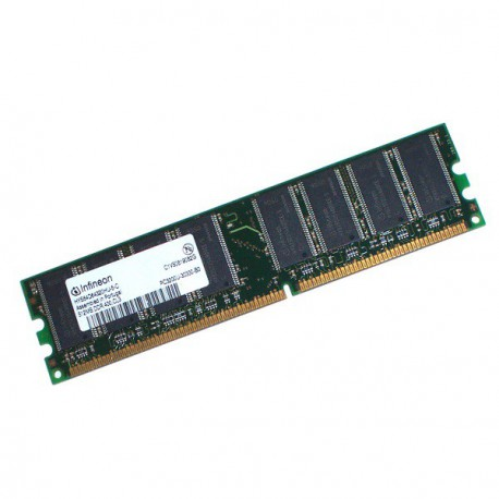 Ram Barrette Memoire Infineon HYS64D32009GU-7.5-A 256Mo PC-2100U 266Mhz CL2.5