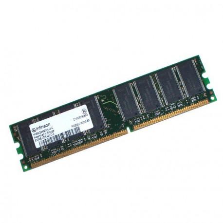 Ram Barrette Memoire Infineon HYS64D32300HU-6-C 256Mo DDR1 PC-2700U 333Mhz CL2.5