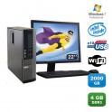 Lot PC DELL Optiplex 790 SFF Pentium G840 2.8Ghz 4Go 2To WIFI W7 Pro + Ecran 22