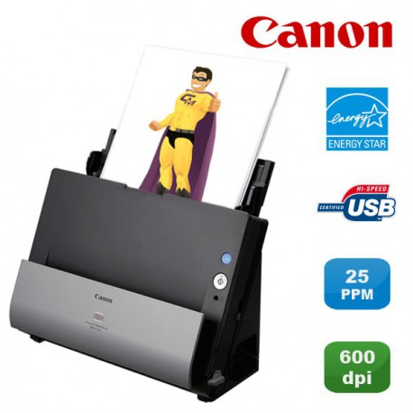 Scanner vertical Canon ImageFORMULA DR-C125 USB Recto-Verso Couleur 25ppm PC MAC