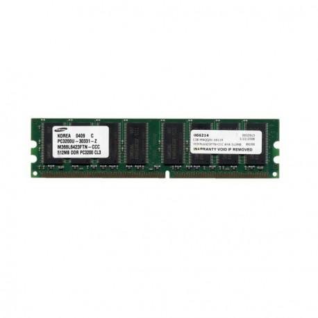 Ram Barrette Memoire SAMSUNG 512Mo DDR PC-3200U 400Mhz M368L6423FTN-CCC CL3 2Rx8