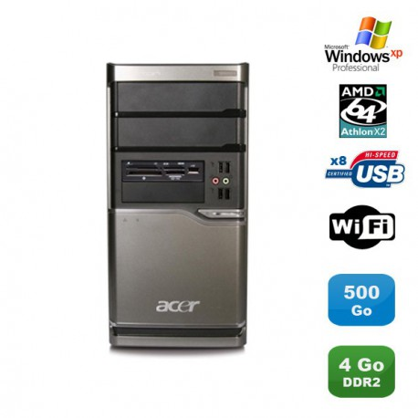 PC ACER Veriton M420 Athlon X2 4850B 2.5Ghz 4Go 500Go Graveur WIFI Win XP pro