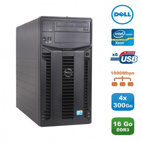 Serveur DELL PowerEdge T310 Server Xeon Quad Core X3440 2.53Ghz 16Go 4x300Go SAS