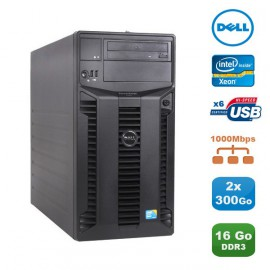 Serveur DELL PowerEdge T310 Server Xeon Quad Core X3440 2.53Ghz 16Go 2x300Go SAS